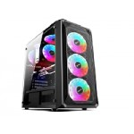 Morpheus Gabinete JX188-9 Gamer 3 Fan frontal RGB ATX 1 FT